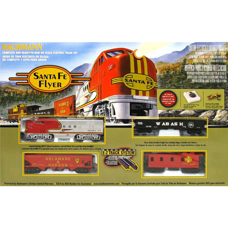 Bachmann Trains Santa Fe Flyer Ready To Run Ho Scale Train Set Lake City Hobbies