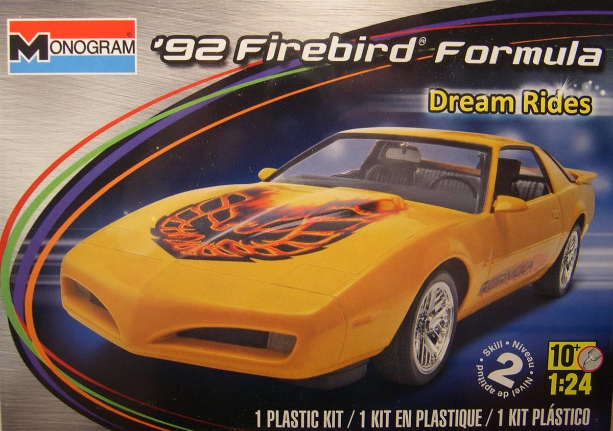 Monogram 1 25 Scale 92 Firebird Formula Plastic Model Car Kit